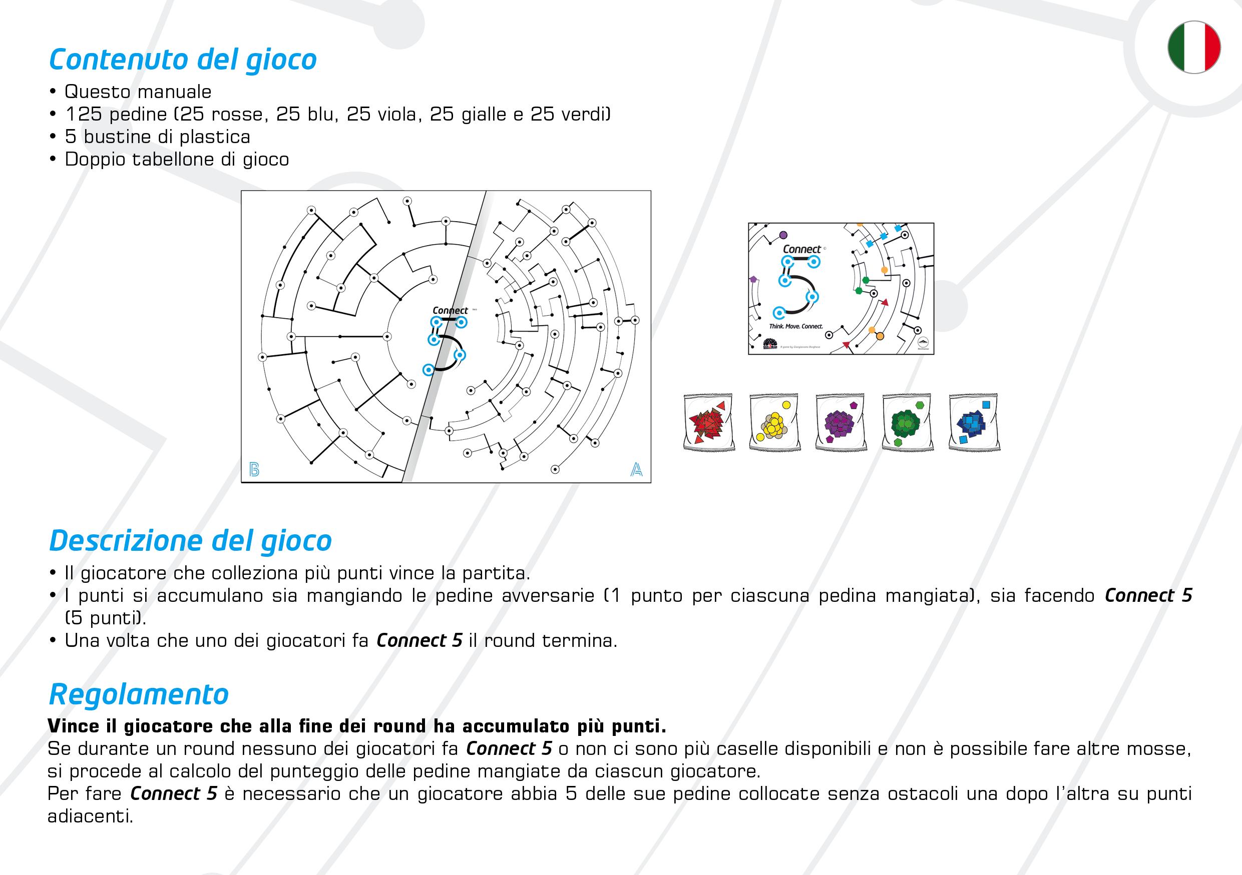 Connect5 Rulebook Contenuto Gioco